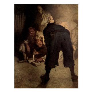 The Black Spot - N. C. Wyeth Postcard