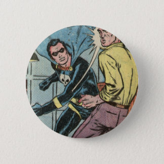 The Black Terror Lays The Smack Down! Pinback Button