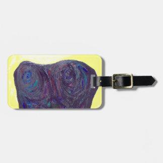 The Black Torso (abstract human body) Bag Tag