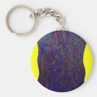 The Black Torso (abstract human body) Keychain