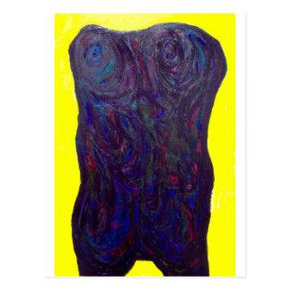 The Black Torso (abstract human body) Postcard