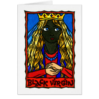 The Black Virgin Greeting Card