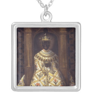 The Black Virgin in the Chadaraita Silver Plated Necklace