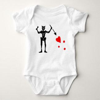 The Blackbeard Authentic Flag Baby Bodysuit