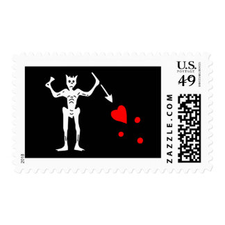 The Blackbeard Authentic Flag Postage Stamp