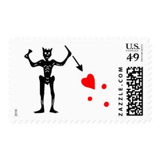 The Blackbeard Authentic Flag Postage Stamp
