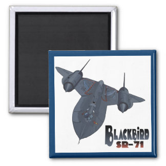 The Blackbird 2 Inch Square Magnet