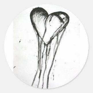 The Blackened Heart Sticker