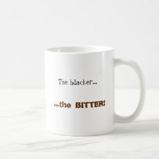 The blacker..., ...the BITTER! Coffee Mug