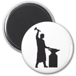 The blacksmith 2 inch round magnet