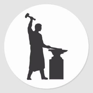 The blacksmith classic round sticker