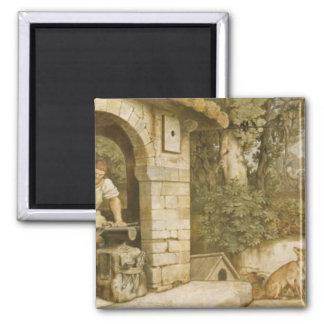 The Blacksmith of Ruhla, c.1854-55 Fridge Magnets
