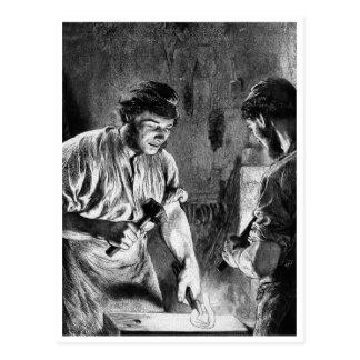 """The Blacksmith"" Vintage Illustration. Postcard"
