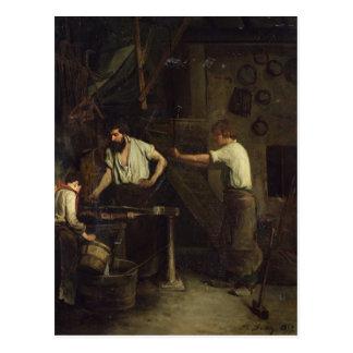 The Blacksmiths, Memory of Treport, 1857 Postcard