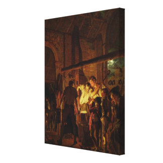 The Blacksmith's Shop (oil on canvas) Canvas Print
