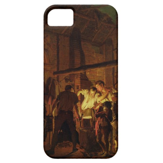 The Blacksmith's Shop (oil on canvas) iPhone SE/5/5s Case