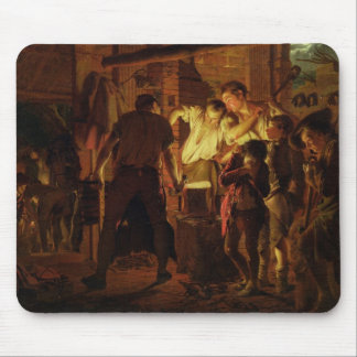 The Blacksmith's Shop (oil on canvas) Mouse Pad