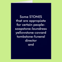 THE BLARNEY STONE FOR YOUR 50TH BIRTHDAY CARD