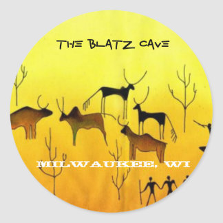 The Blatz Cave, Milwaukee, WI Classic Round Sticker