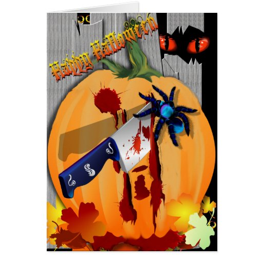 The Bleeding Pumpkin Card