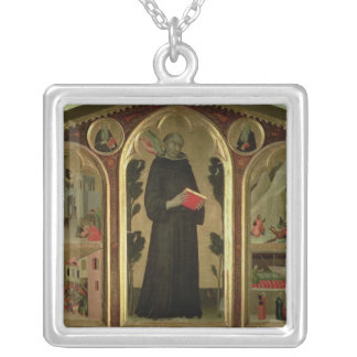 The Blessed Agostino Novello Altarpiece Silver Plated Necklace