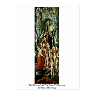 The Blessed At The Gate To Heaven By Hans Memling Postcard