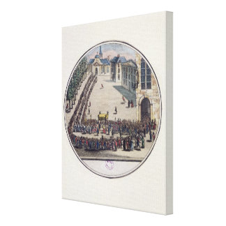 The Blessed Sacrament being carried Canvas Print