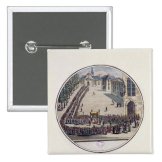 The Blessed Sacrament being carried Pinback Button