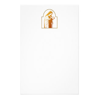 The Blessed Virgin Mary holding Baby Jesus Customized Stationery