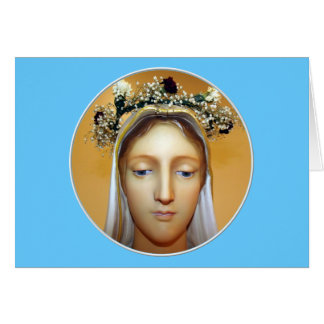 The Blessed Virgin Mary Statue ( May Crowning ) Card