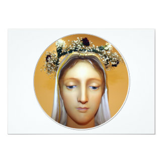 """The Blessed Virgin Mary Statue ( May Crowning ) 5"""" X 7"""" Invitation Card"""