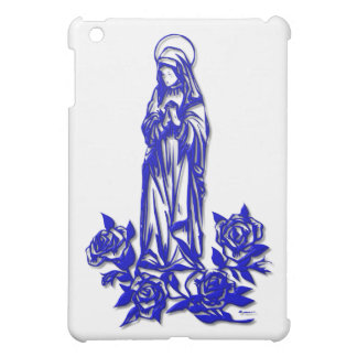 The Blessed Virgin Mary ( with blue roses ) iPad Mini Covers