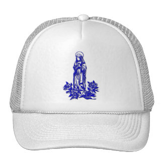 The Blessed Virgin Mary ( with blue roses ) Trucker Hat