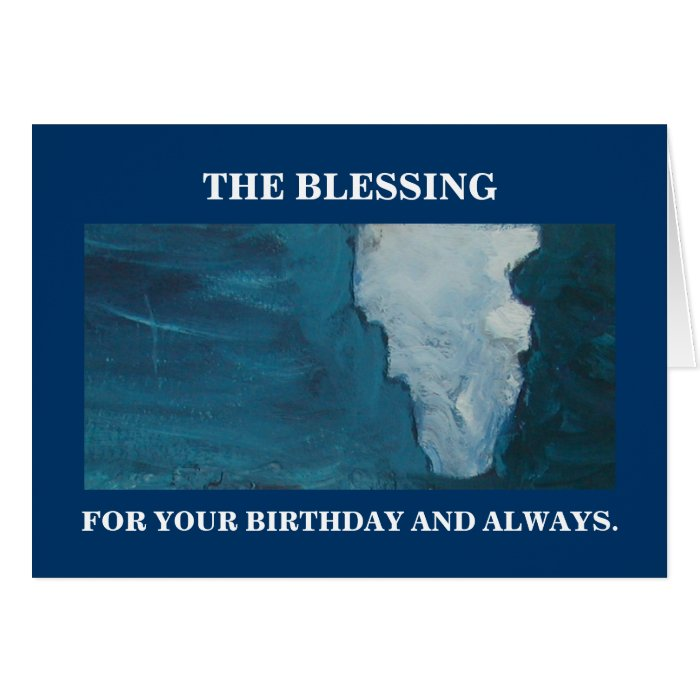 THE BLESSING CARD