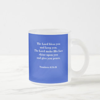 THE BLESSING 10 OZ FROSTED GLASS COFFEE MUG