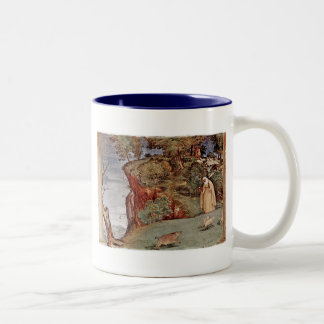 The Blessing of Saint Brigid of Kildare Two-Tone Coffee Mug