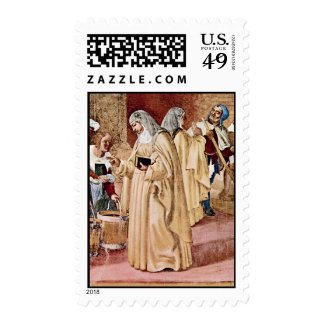 The Blessing Of St. Clare By Lotto Lorenzo (Best Q Postage Stamps