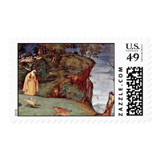 The Blessing Of St. Clare By Lotto Lorenzo (Best Q Postage Stamp