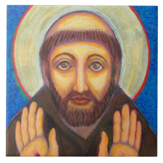 """""""The Blessing of St Francis"""" Ceramic Tile"""