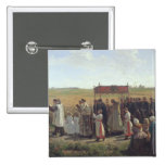 The Blessing of the Wheat in the Artois, 1857 Pinback Buttons