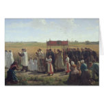 The Blessing of the Wheat in the Artois, 1857 Greeting Cards