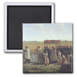 The Blessing of the Wheat in the Artois, 1857 Magnet