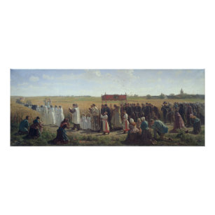 The Blessing of the Wheat in the Artois, 1857 Poster