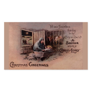 The Blessings of Christmas Gift Tags Business Cards