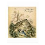 The Blessings of Christmas Nativity Scene Postcards