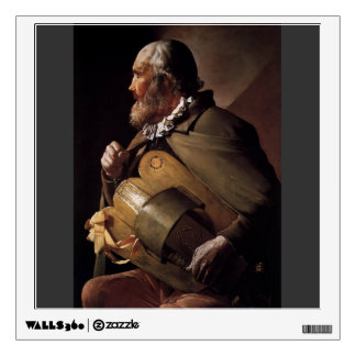 The Blind Hurdy Gurdy Player by Georges de la Tour Wall Graphic