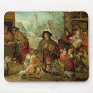 The Blind Hurdy Gurdy Player Mouse Pad