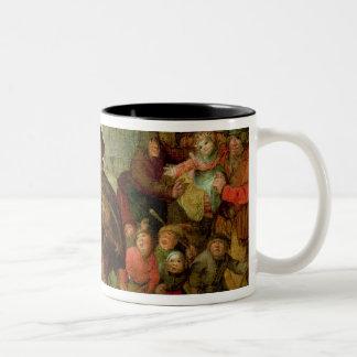 The Blind Hurdy Gurdy Player Two-Tone Coffee Mug