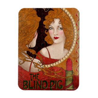 The Blind Pig Vintage Artwork Magnet