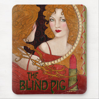 The Blind Pig Vintage Artwork Mouse Pad